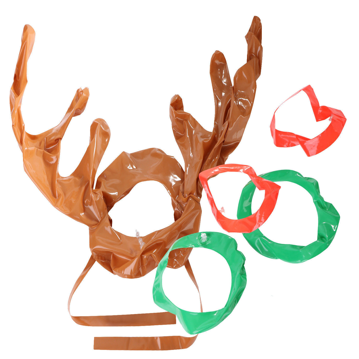 1-50pc Antler Reindeer Hat Christmas Party Game Gift Ring Moose Inflatable Toss