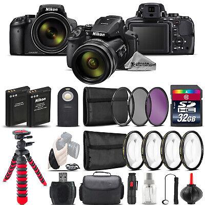 Nikon COOLPIX P900 Digital Camera + Spider Tripod + EXT BAT - 32GB Kit