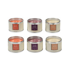 Set of 6 Travel Tin Scented Candles Fragrance Lights For Christmas Birthday