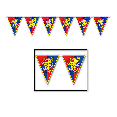 MEDIEVAL Knights Castle Renaissance Fair  STREAMER Banner Birthday Party Decorat](Banner Medieval)