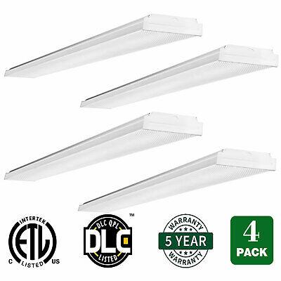 4FT Linear Wrap Ceiling Lighting Fixture 40W LED Garage Lights 4400lm 4000K