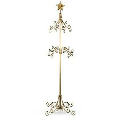 Tall Metal Christmas Stocking Holder Stand - GOLD ()