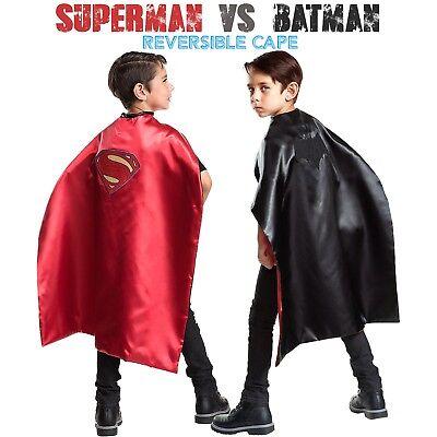 Batman Cape Superman Cape - 2 in 1 Reversible Cape - Batman Superman Costume](Reversible Batman Superman Cape)