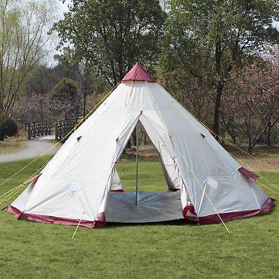 Skandika Tipii 250 Tenda indiana/da campeggio 9 Persone Peso 8 kg beige nuova