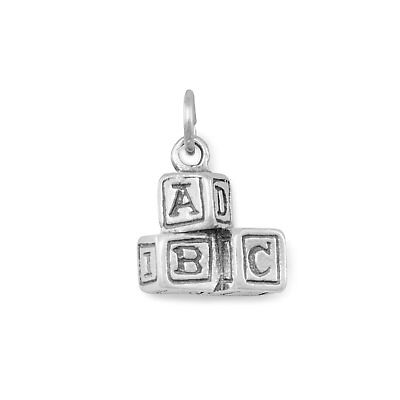 Genuine Sterling Silver ABC Blocks Charm ()