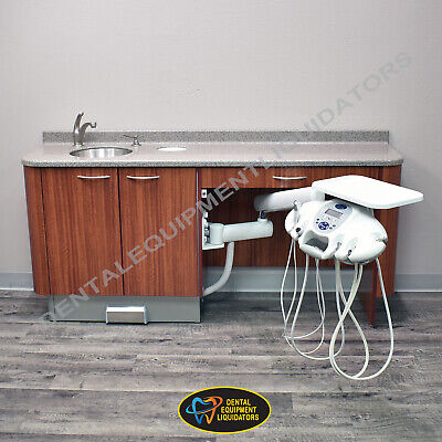 Pelton Crane Caseworx Side Cabinet With Sink And Side Doctors Delivery System