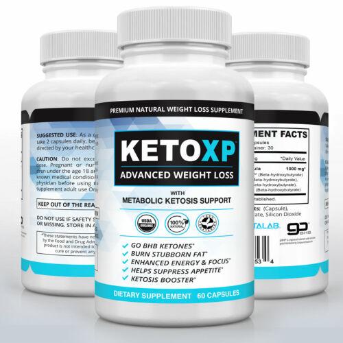 Keto XP Official Weight Loss Pills Supplement Fast Keto Diet Fat Burner 60ct