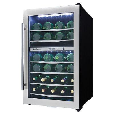 Danby Designer 38 Bottle Compact LED Light Refrigerator Wine Cooler (Damaged)