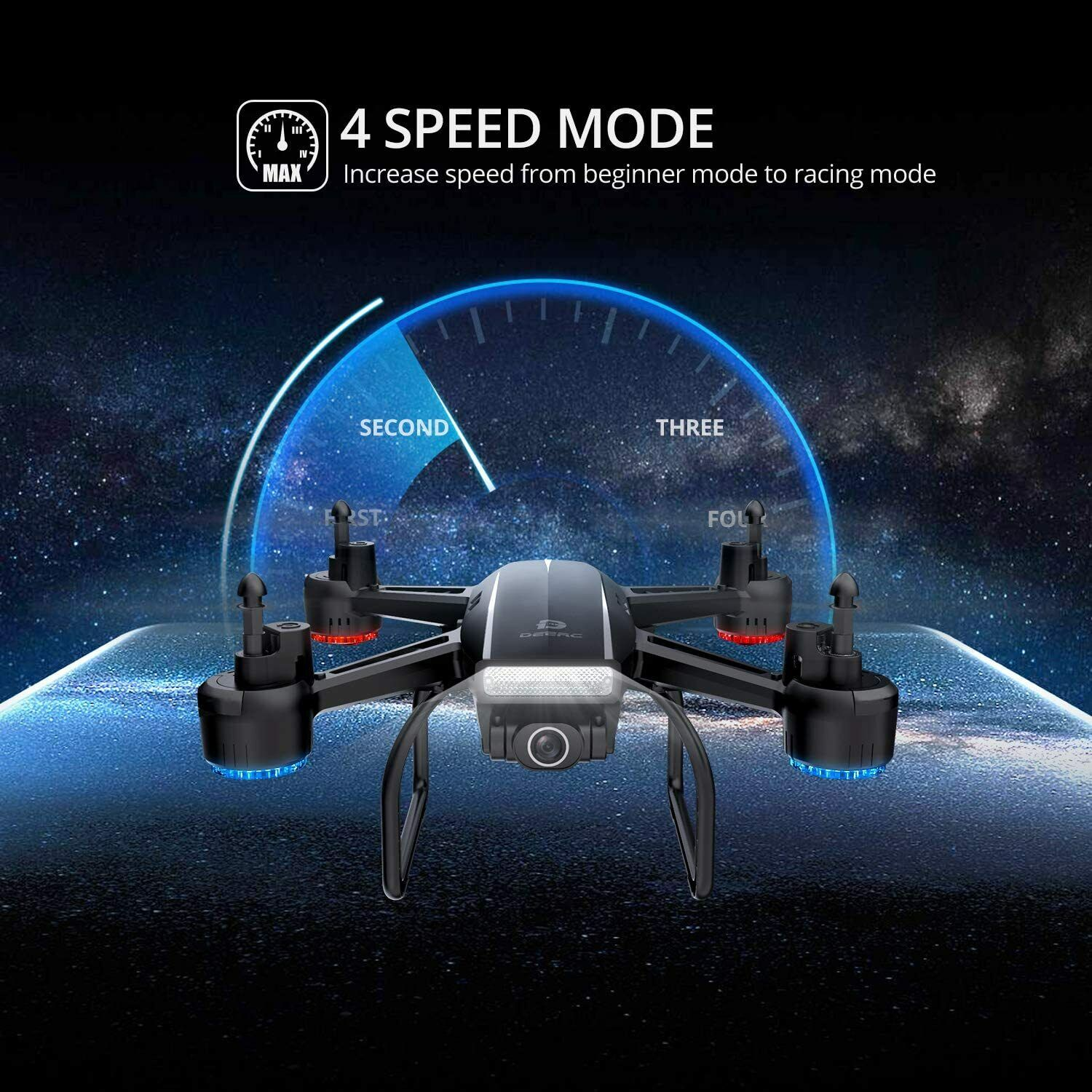 Holy Stone D50 2.4G FPV Drone 2K HD Video Camera RC Quadcopter with 2 Batteries 6