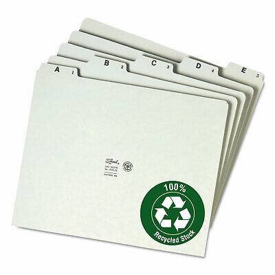 Smead Recycled Top Tab File Guides Alpha 15 Tab Pressboard Letter 25set 50376