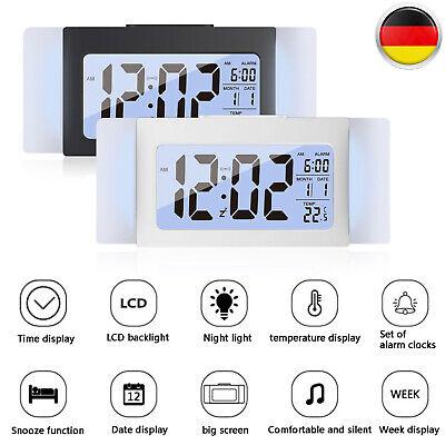 Funk LED Tischuhr Wecker Temperaturanzeige LCD Digital Wake Up Lichtsensor 130g (Digitale Tischuhr)
