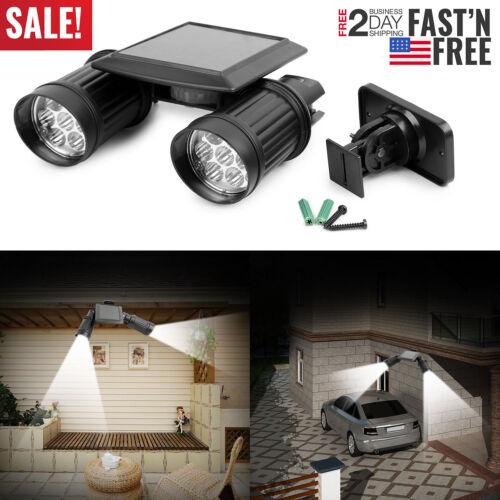 Adjustable 14LED Solar PIR Motion Spotlight Wall Light PIR Motion Sensor Lamp  Y