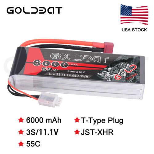 GOLDBAT 6000mAh 55C 11.1V 3S LiPo Battery Deans Plug for RC