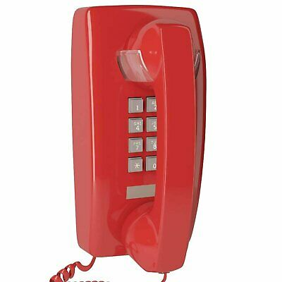 Home Intuition Single Line Wall Mounted Corded Telephone Red