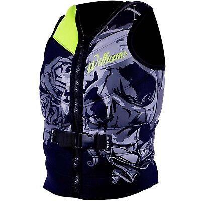 Williams Mens Sector Neoprene Life Jacket Vest GREEN Plus Size 3XL