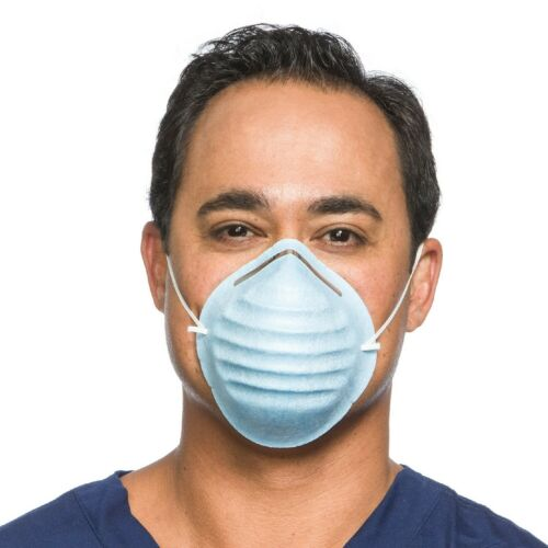 Halyard 00152 Standard Cone Mask With Headband - Blue BOX OF 50