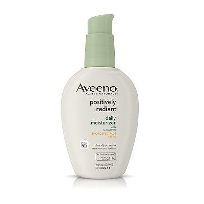 Aveeno Active Naturals Positively Radiant Daily Moisturizer SPF15 4fl oz 120mL (Aveeno Moisturizer Spf)