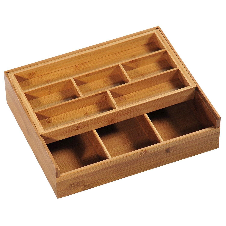 Sortierkasten Aufbewahrungsbox Box Organizer Holzbox Holzkiste Bambusbehälter
