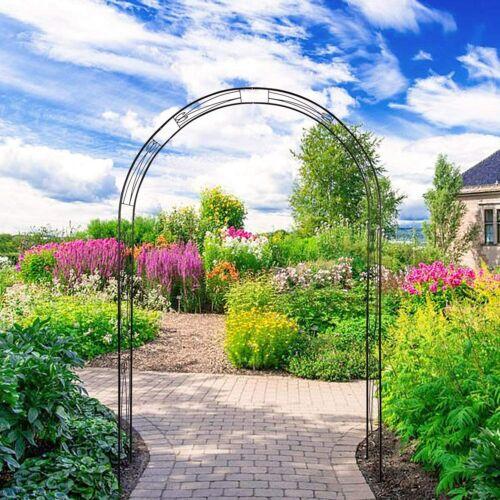 """91"""" Garden Arch Arbor for Climbing Plants Outdoor Lawn Backyard Trellis Decor"""