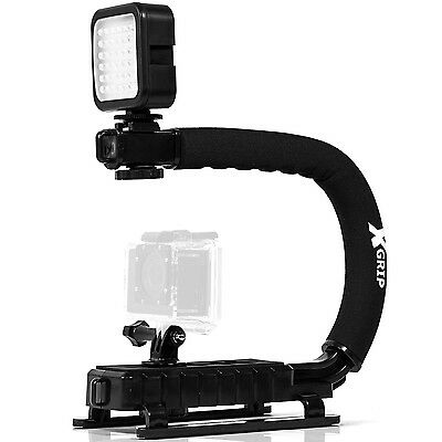 Opteka X-GRIP Pro Camera Stabilizing Handle with LED Light for Camera /Camcorder