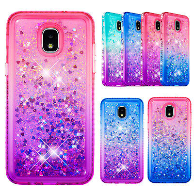 For Samsung Galaxy J3/J4 Plus/J7 Liquid Glitter Diamond Quicksand Phone Case