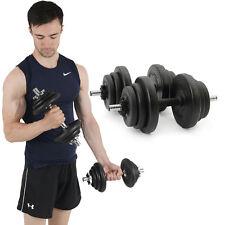 Dumbells Set 20kg Adjustable Free Weights Bar Spinlock Vinyl Fitness Mens Dumbel