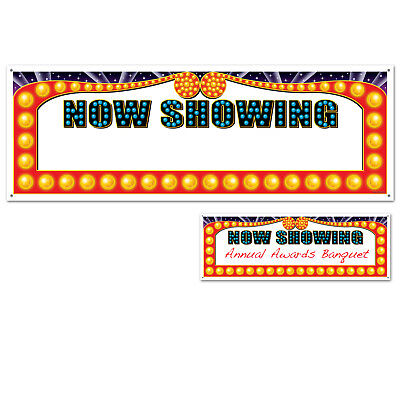 NOW SHOWING Movies Marquee HOLLYWOOD Awards Night Birthday party decoration](Awards Night Decorations)