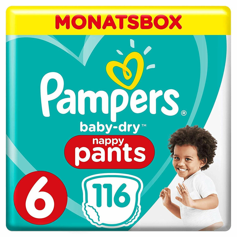Pampers Baby-Dry Pants, Gr. 6, 15+ kg, Monatsbox, 1er Pack (1 x 116 Stück)