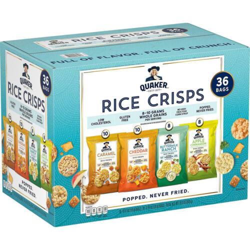 Quaker Rice Crisps Variety Pack (36 pk.) GREAT VALUE & SERVICE!!