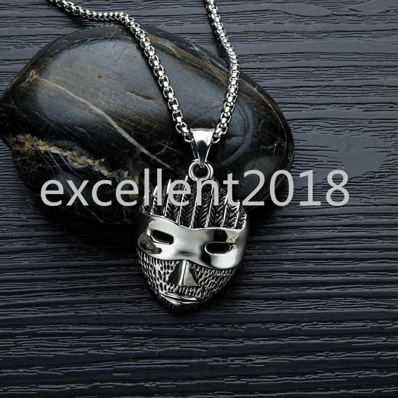 Braves Mask Pendant Necklace Punk Jewelry Face Mask Necklace