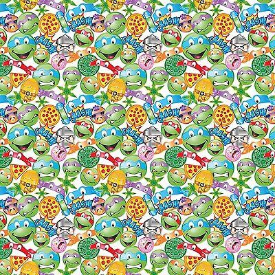 Nickeledeon Ninja Turtles Tmnt Icon Toss 100% cotton fabric by the yard - Tmnt Fabric