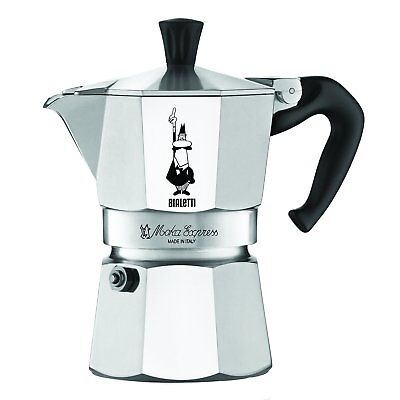 Bialetti 3 Cup Moka Express Espresso Maker - Aluminum Stovetop Coffee Maker