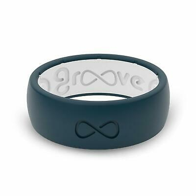 Groove Wedding Band (Groove Life - Groove Ring Silicone Wedding Band Blue/White Size 11 Free Shipping )