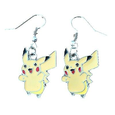 u Cute Dangle Earrings Girl Cosplay W/Gift Box Superhero (Pikachu Anime Girl)