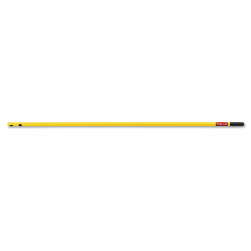 """Rubbermaid Commercial Quick-Connect Steel Mop Handle 52"""" Yellow Q749YEL"""