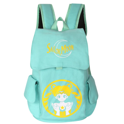 Anime Sailor Moon Canvas Backpack Rucksack School Bag Kids Bag Tsukino Usagi