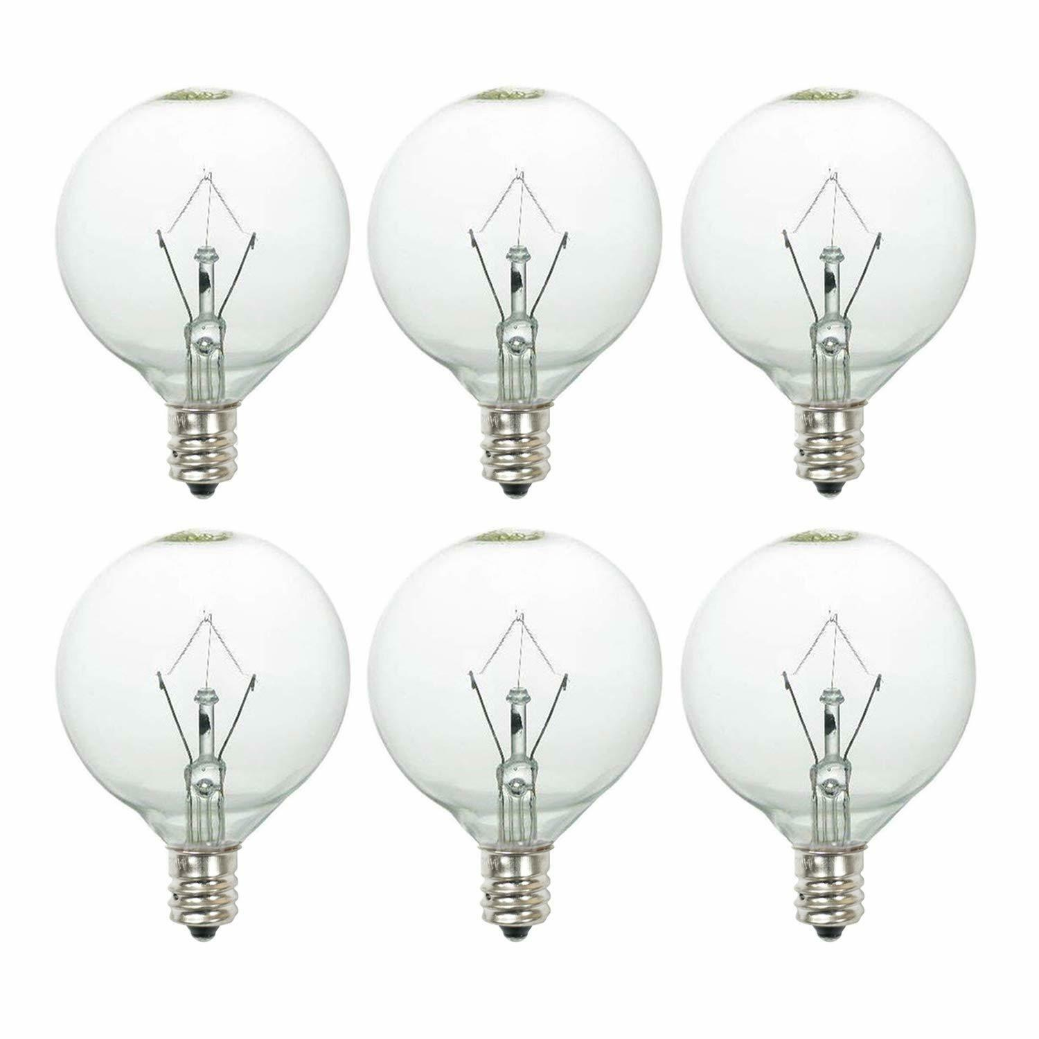 25W 120V Globe Light Bulbs for Scentsy Full Size Candle Wax