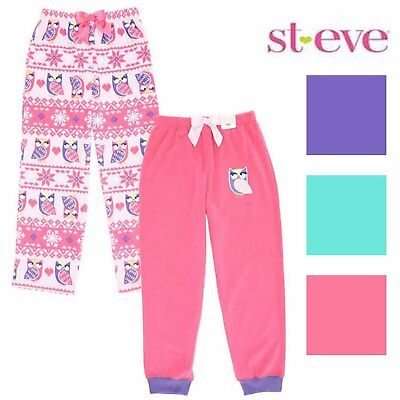 St Eve Girls 2 Pack Fleece Pajama Sleep (Fleece Girls Sleep Pant)