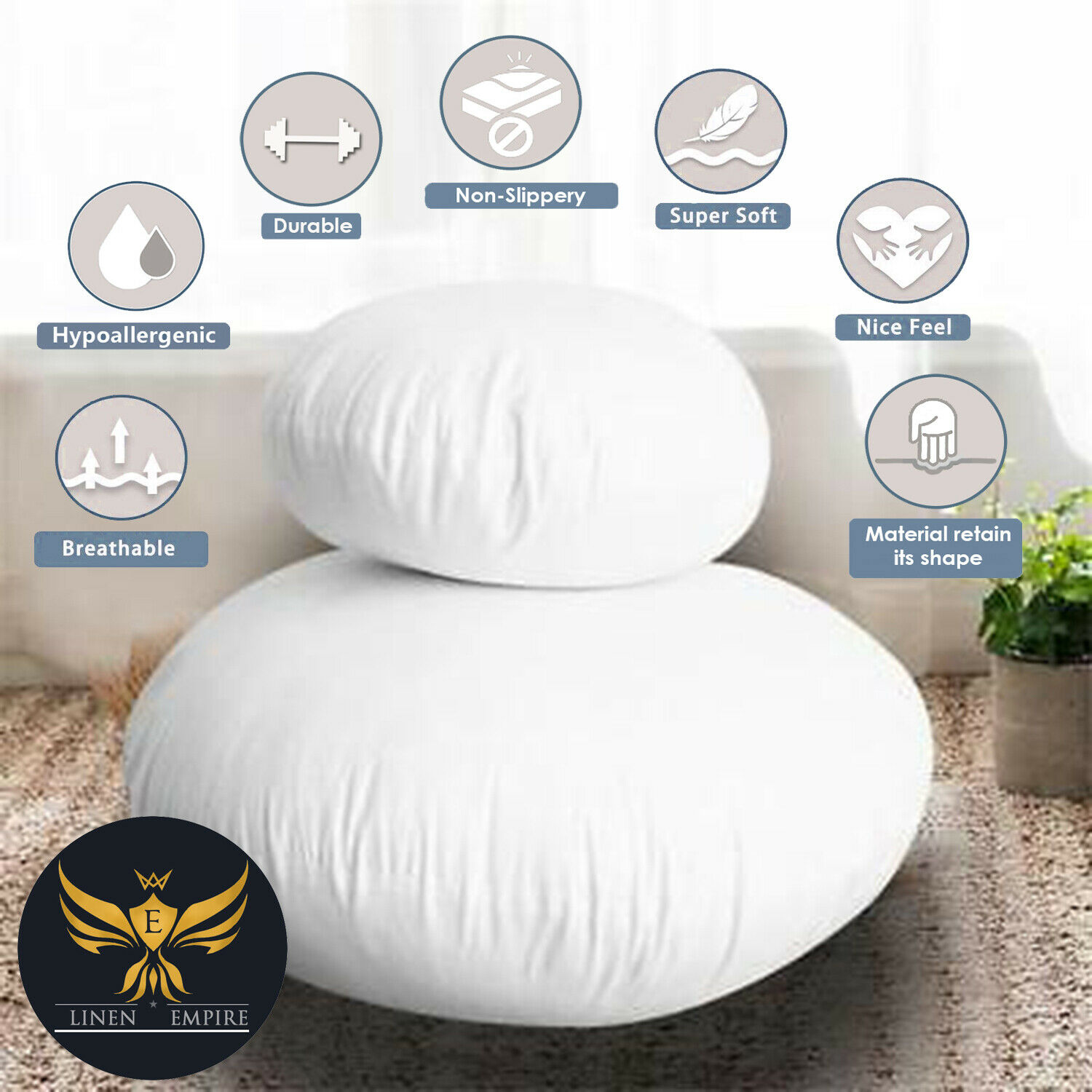 Premium Quality Hollow Fibre Cushion Cover Filling Pads Inserts Fillers Scatter