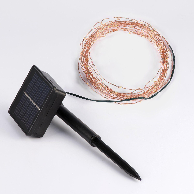 Solar Lichterkette Kupferdraht 10M 100 LED Sternklar Lichterkette ...