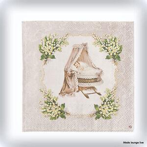 ... Eef-Baby-20-Pezzi-tovaglioli-di-carta-33x33-cm-Culla-Neonato-Battesimo
