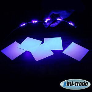 Led Leiste UV Licht 15 x 5050 POWER smd´s Schwarzlicht Strip Stripe Balken 30cm