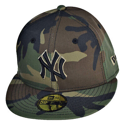 New Era New York Yankees 59Fifty Men's Fitted Hat Cap Camo-Black 70387062