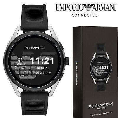 Emporio Armani Matteo Smart Watch Fitness Tracker Heart Rate Bluetooth Black