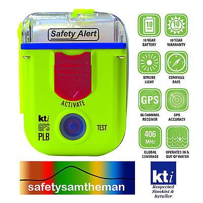 KTI SAFETY ALERT RESCUE BEACONS | PLB SA2G | EPIRB SA1G - ALL WITH BUILT-IN GPS COORDINATES