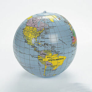 3-Inflatable-World-Globes-Teacher-aid-Educational-EARTH-MAP-Beach-ball