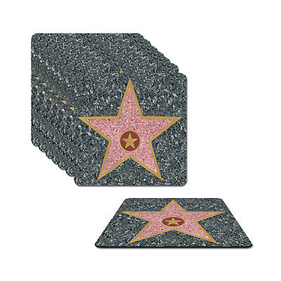 HOLLYWOOD STAR AWARDS NIGHT DRINKS COASTERS PARTY TABLEWARE (Star Awards)