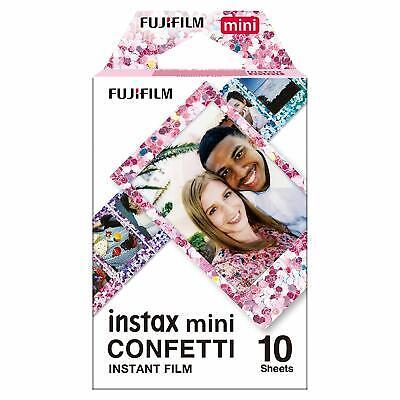 1 pack 10 photos confetti fuji instax