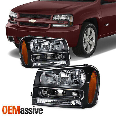 Fit 2002-2009 Chevy Trailblazer Replacement Headlights 02 03 04 05 06 07 08 09