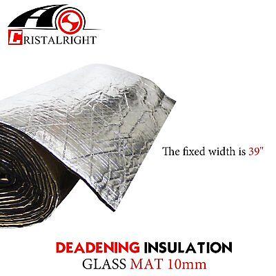 """3/8"""" Sound Deadener Insulation Heat Shield Dampening Reflective (Black)48""""x39"""""""